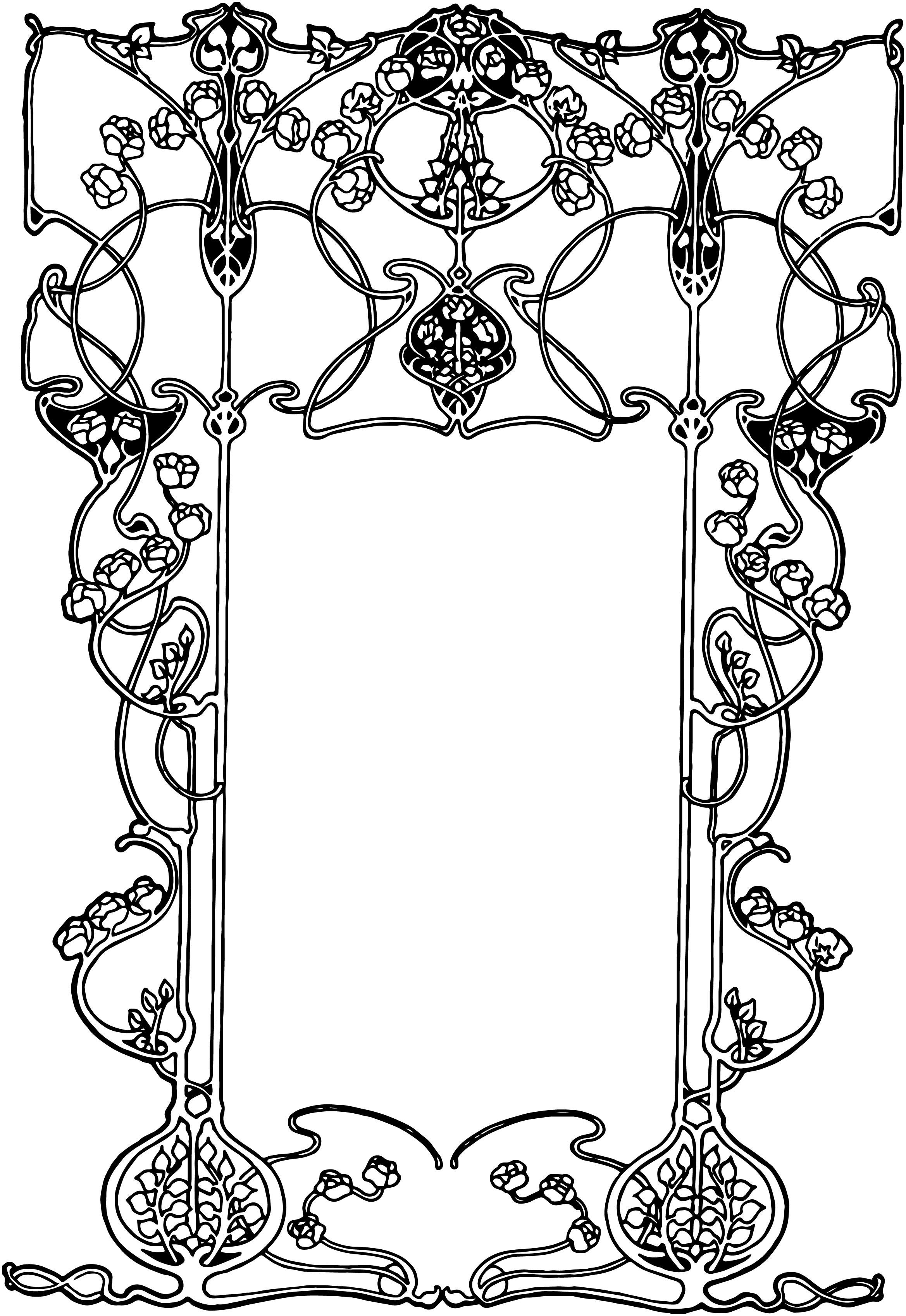 Line clipart art nouveau – Art Nouveau image Ornate