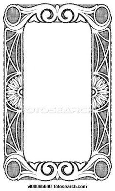 Frame clipart art nouveau And  frame Dover deco