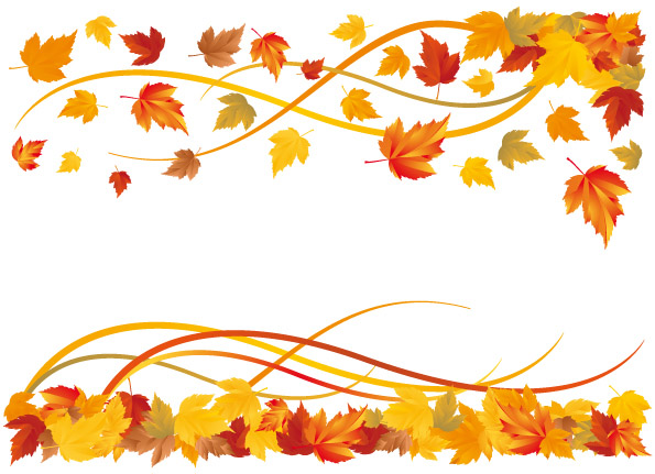 Leaves clipart boarder Vector vector free vector autumn
