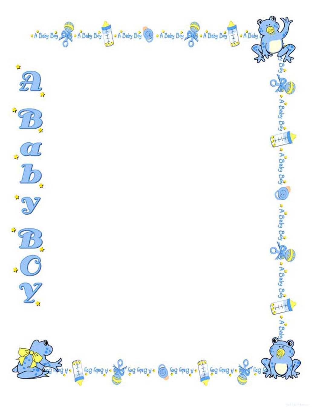 Little Boy clipart nice boy Baby clipart girl new Border