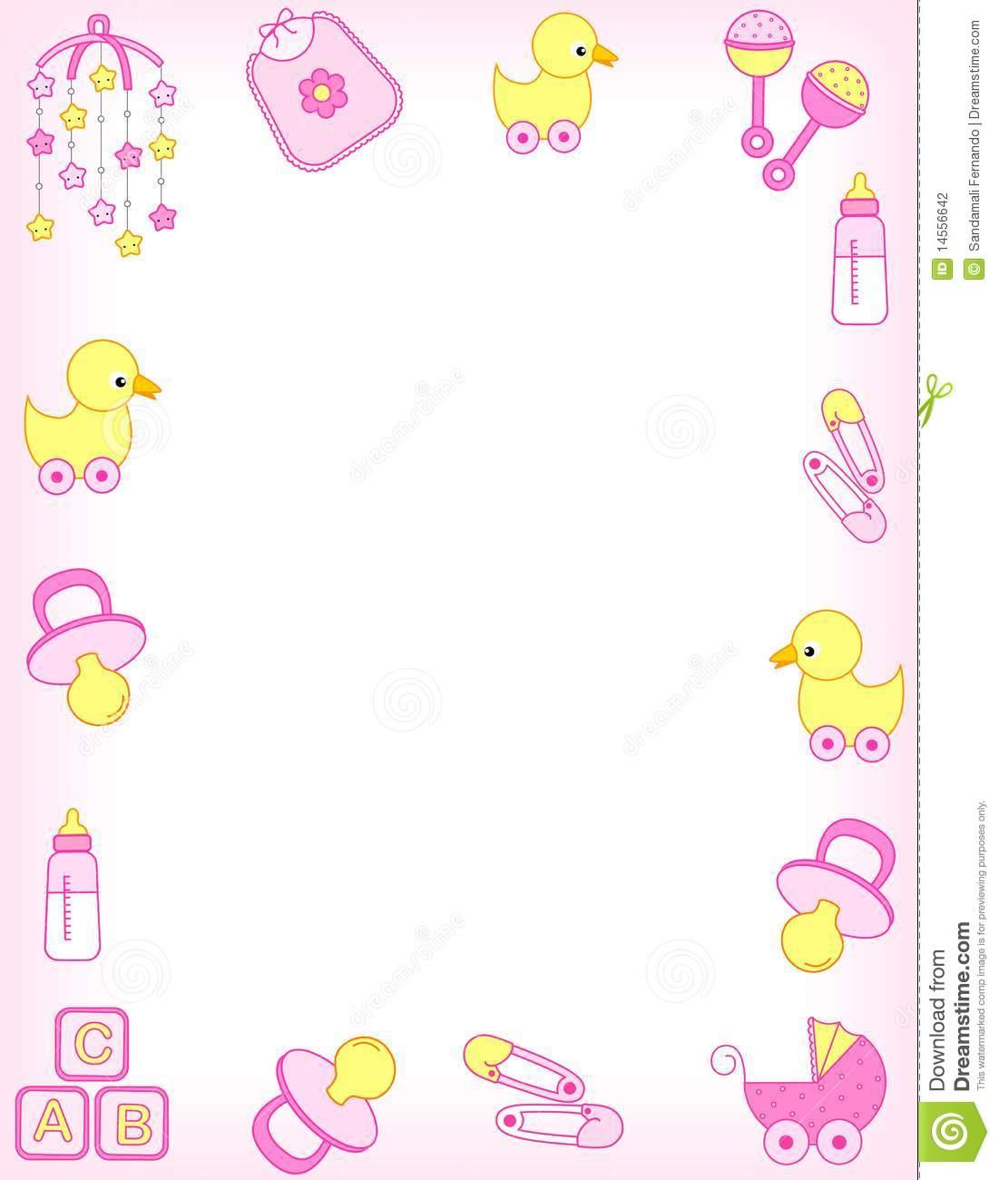 Baby clipart frame Shower Topsfld frame Shower Collection