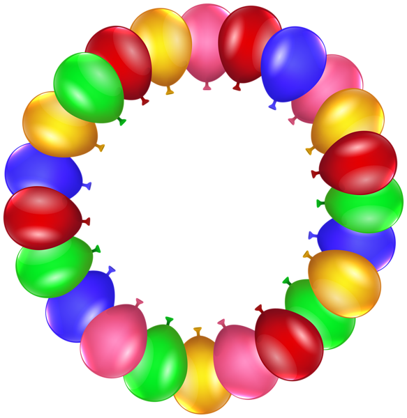 Circle clipart balloon Frame PNG Balloon Art PNG