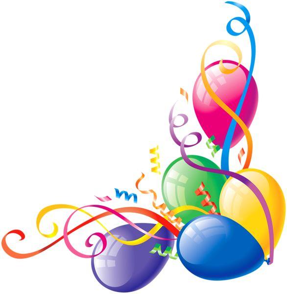 Celebration clipart corner Free Balloons For Pix Birthday