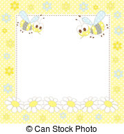 Bees clipart frame  Baby with by in