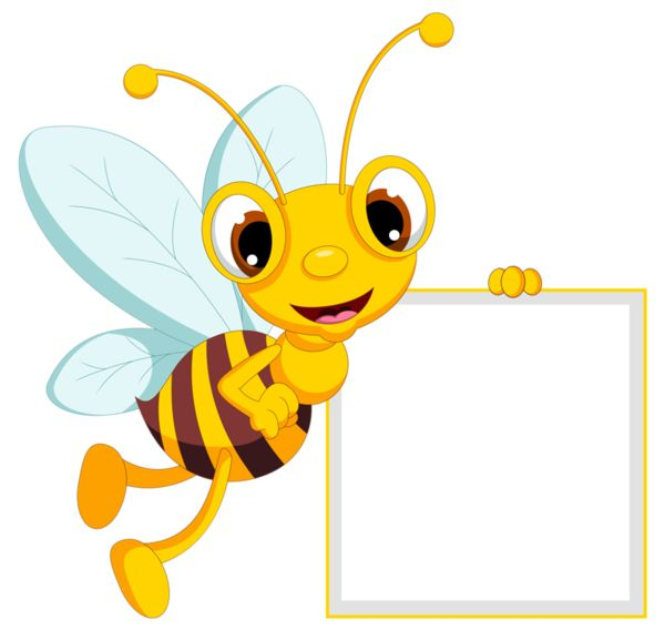 Bee clipart frame Včielky this Find on more