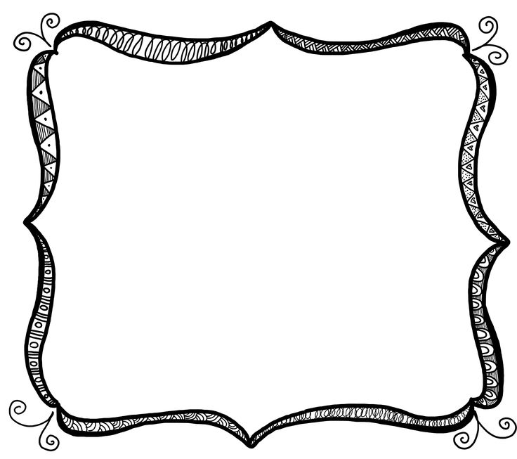 Frame clipart black and white Com clipart art free free