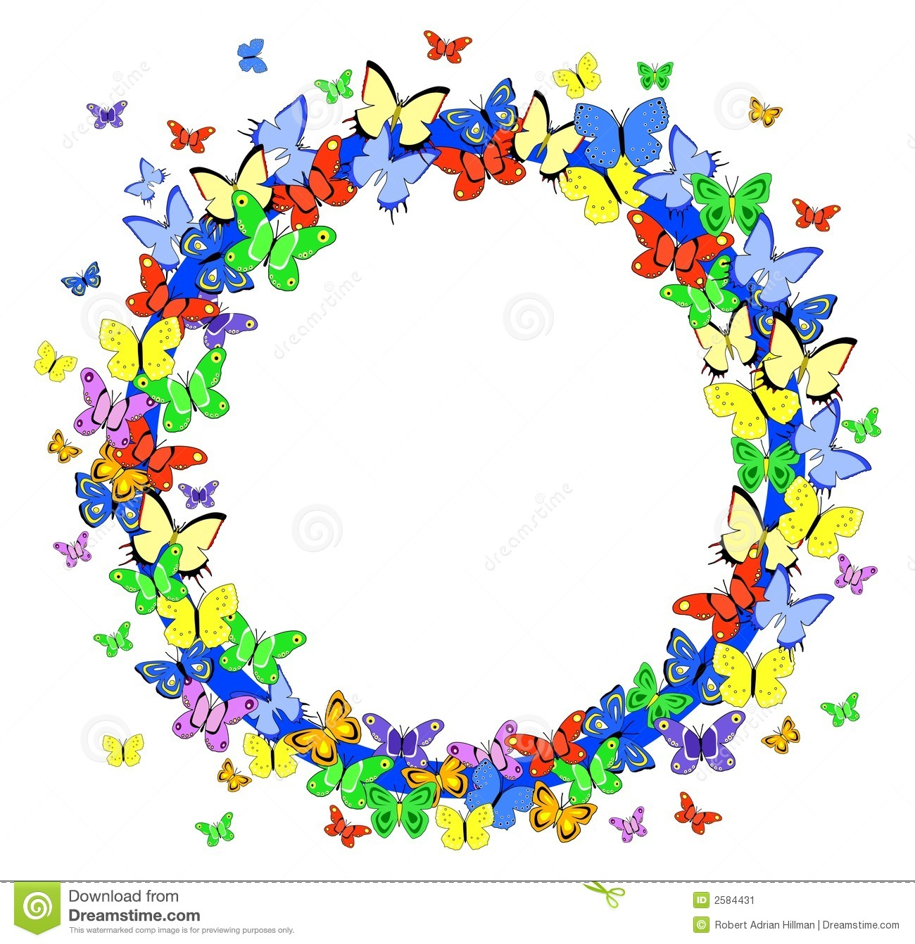 Frame clipart butterfly #2