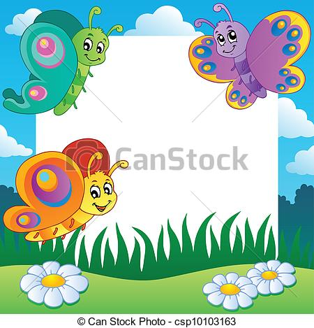 Frame clipart butterfly 1 Clip Vector csp10103163 1