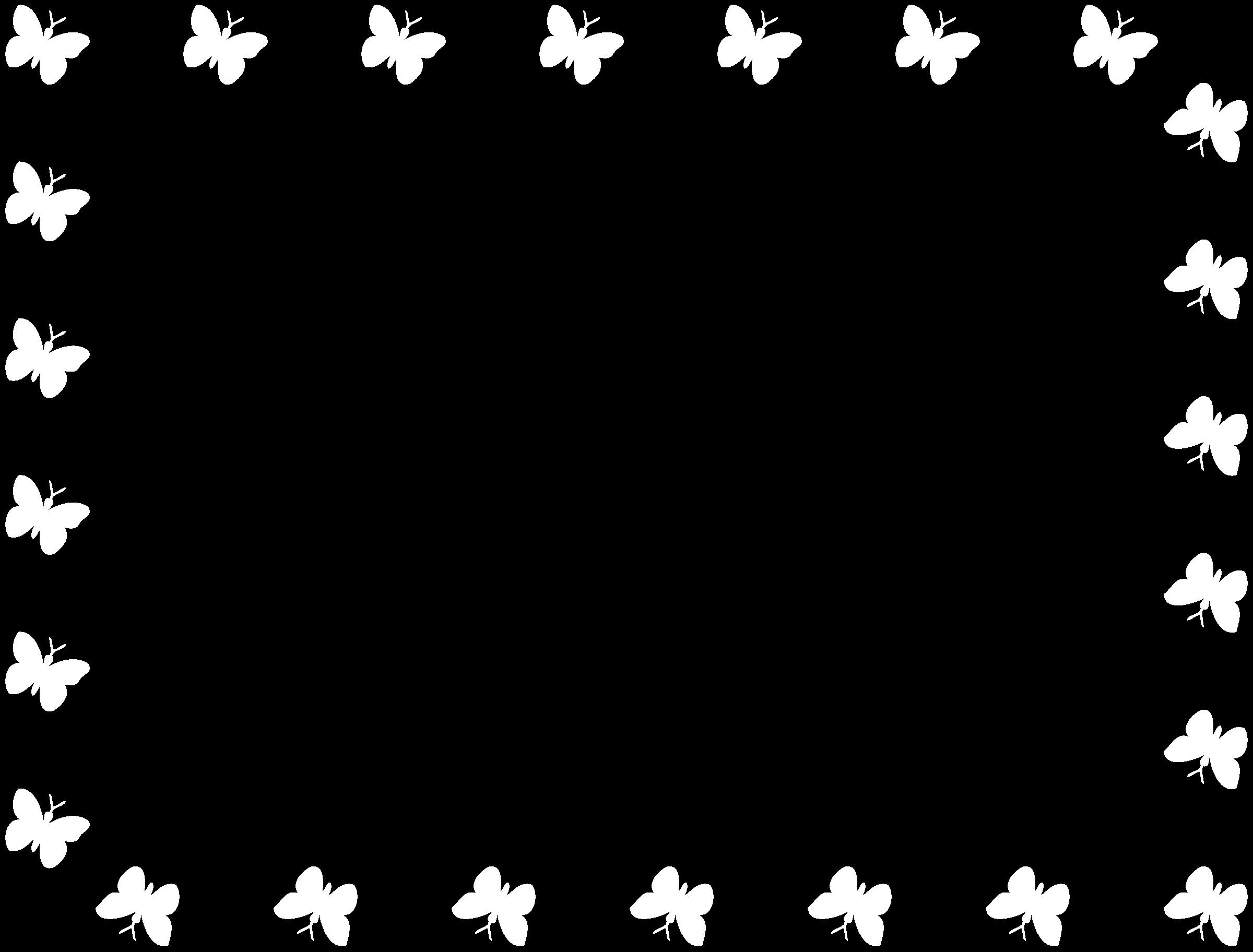Frame clipart butterfly Butterfly (B&W) frame (B&W) Butterfly