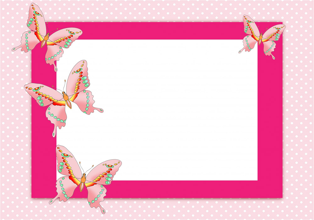 Frame clipart butterfly Same frame this spotted Butterfly