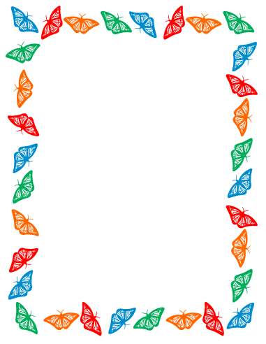 Frame clipart butterfly Library Border Free Free Art