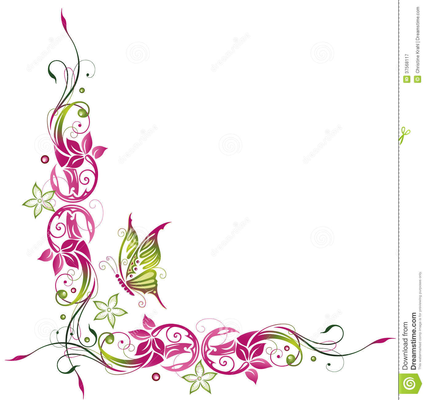 Frame clipart butterfly #7