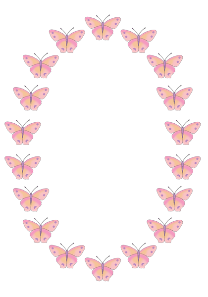 Frame clipart butterfly Time a spotted on frame
