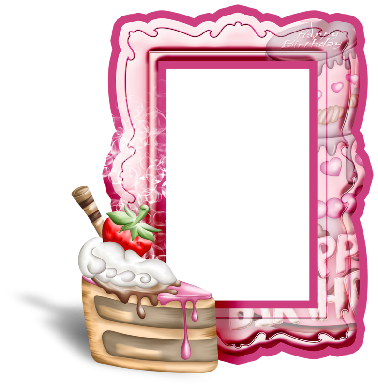 Frame clipart cake Transparent Yopriceville Birthday with Cake