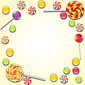 Frame clipart candy · Sweet candies Clip GoGraph