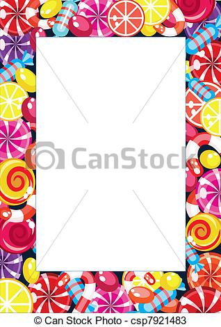 Frame clipart candy Frame candy candy christmas frame