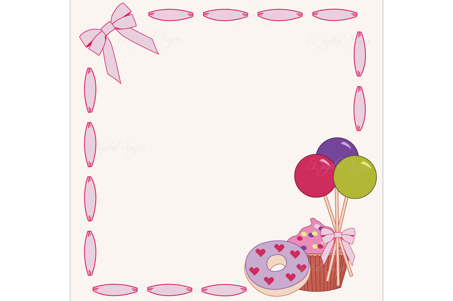 Frame clipart candy Digital Like item? Border this
