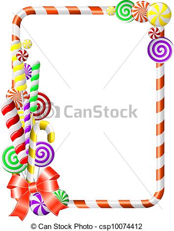 Frame clipart candy Candies Frame colorful Frame Sweet