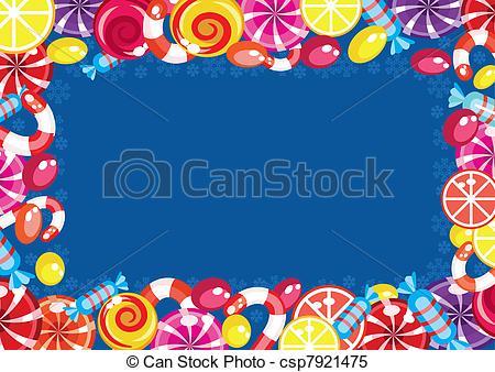 Frame clipart candy Csp7921475 Christmas frame frame