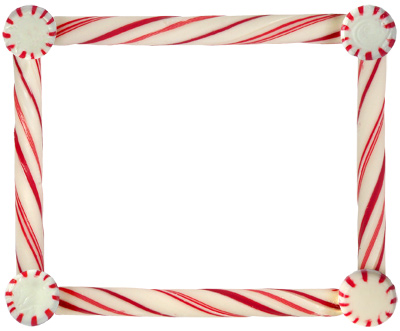 Frame clipart candy cane  Candy Cane Border