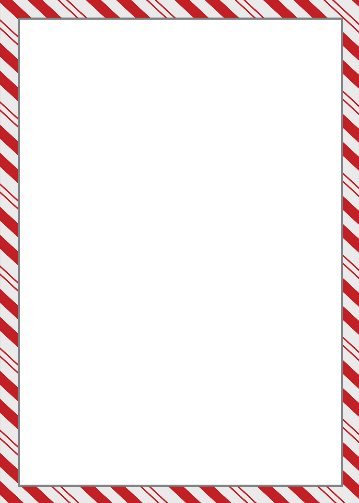 Frame clipart candy cane Border candy cane border x