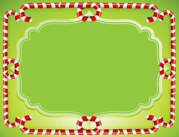 Frame clipart candy cane Vector Curly Candy Cane Horizontal