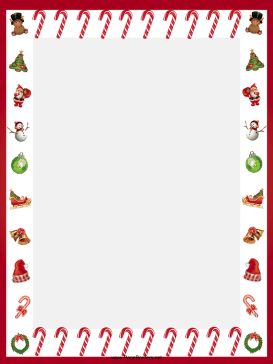 Candy Cane clipart border Adorn other images Free Printable