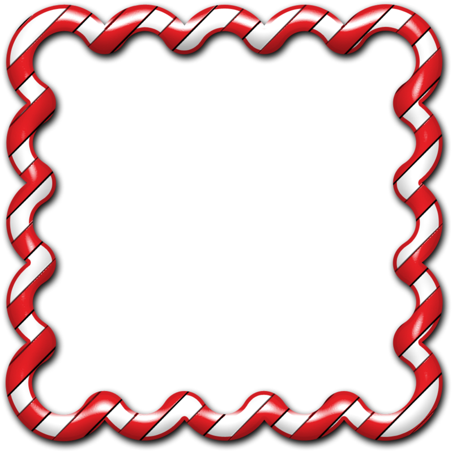 Frame clipart candy cane 01 Candy Cane Frame 01