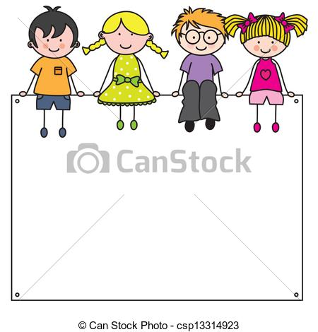 Frame clipart cartoon Kids cartoon Illustration  csp13314923