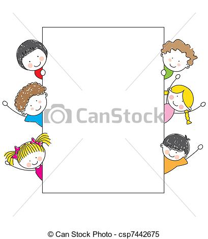 Frame clipart cartoon Kids kids cartoon Vector cartoon