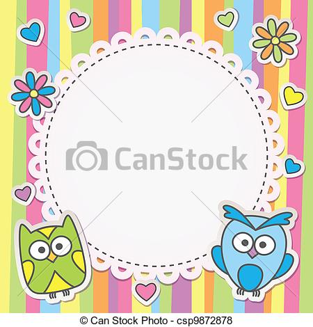 Frame clipart cartoon On with frame frame owls