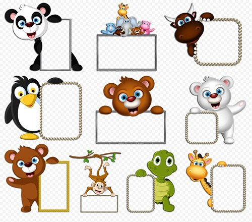 Frame clipart cartoon PSD Clipart notches cartoon 10