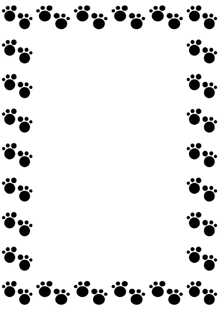 Paw clipart border Paw print and Dog Dog