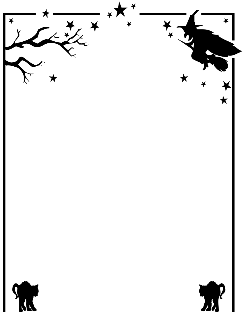 Witch clipart border Free Images Download Art on