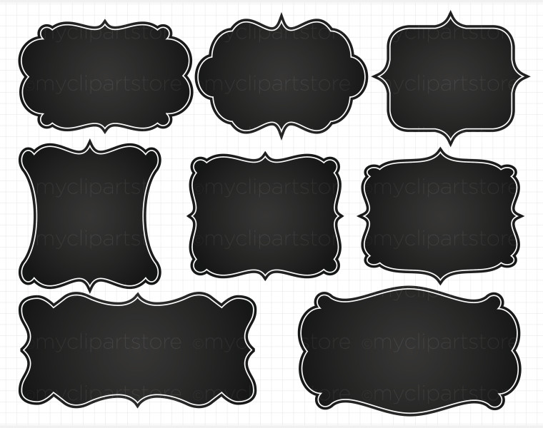 Frame clipart chalkboard And Clip and art frames