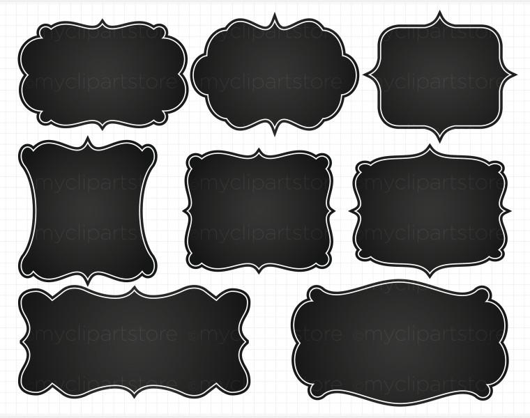 Frame clipart chalkboard Labels Clip and frames art