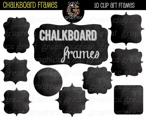 Frame clipart chalkboard Digital Il_570xn Frames  Frame