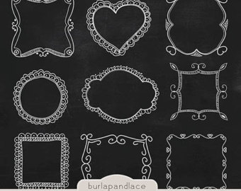 Frame clipart chalkboard Drawn Chalkboard clipart frames clipart