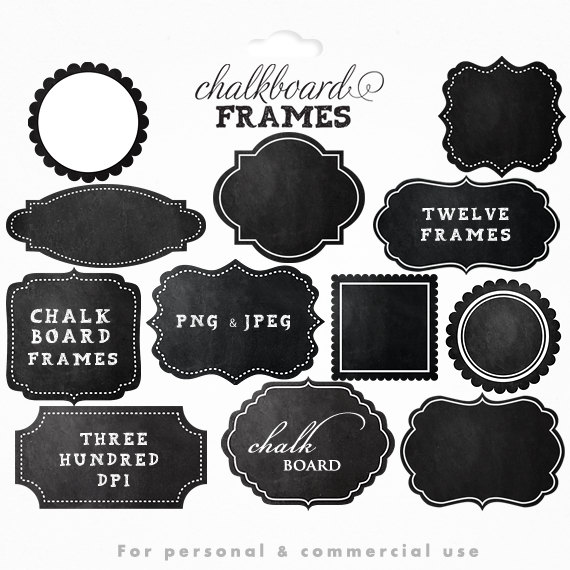 Vignette clipart calligraphy Chalkboard clipart for clip decorative