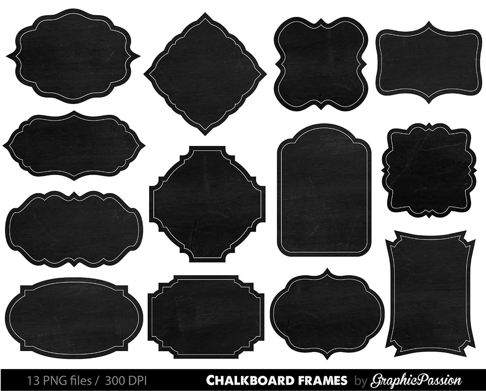 Frame clipart chalkboard Clip Chalkboard Embellishment Chalk Border