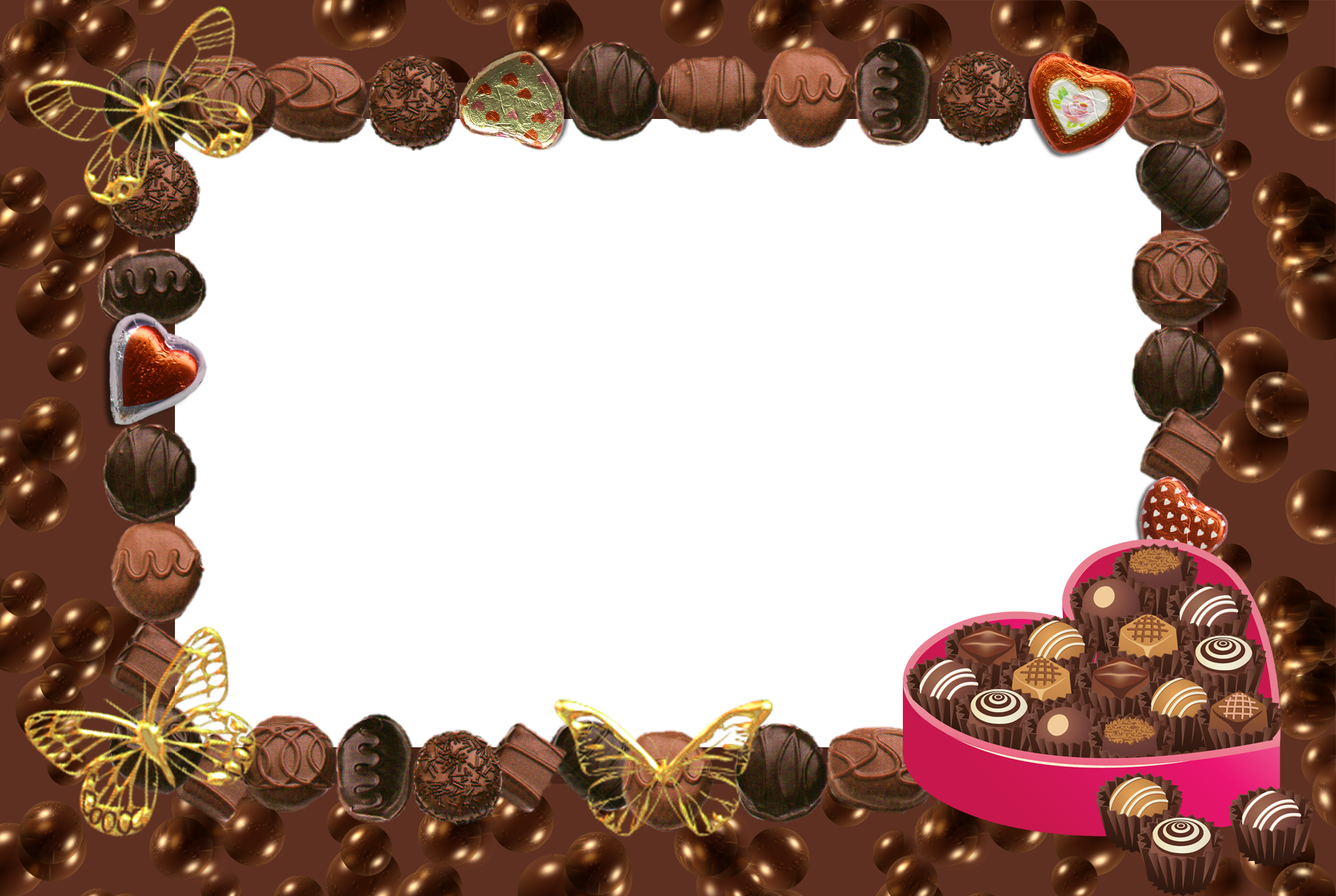 Frame clipart chocolate Hearts Transparent Gallery and with