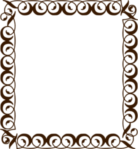 Frame clipart chocolate Brown Clker art Clip Art