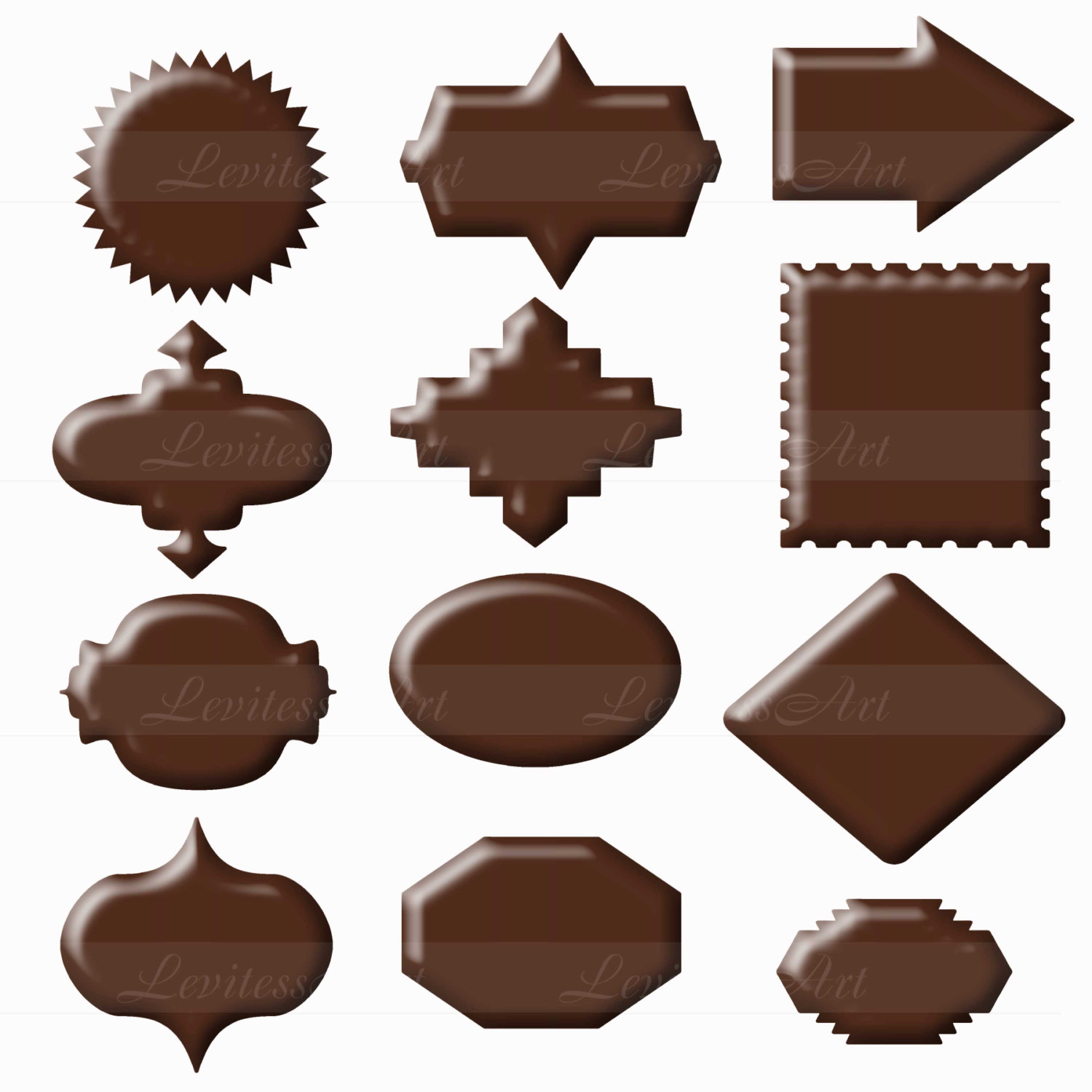 Frame clipart chocolate Clipart Chocolate digital Chocolate Chocolate