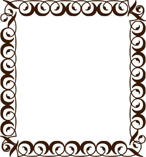 Frame clipart chocolate Border com  as: at