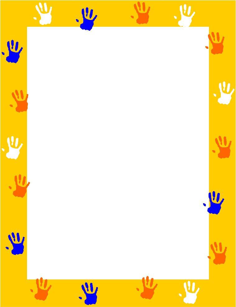 Handprint clipart boarder Kindergarten i151 Download clipart Free
