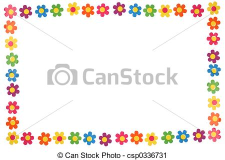 Artwork clipart colorful Flower flowers colorful of Stock