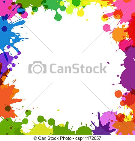 Color clipart frame Illustrations  and On Background