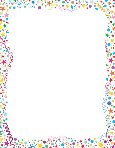 Frame clipart confetti Confetti JPG GIF downloads http