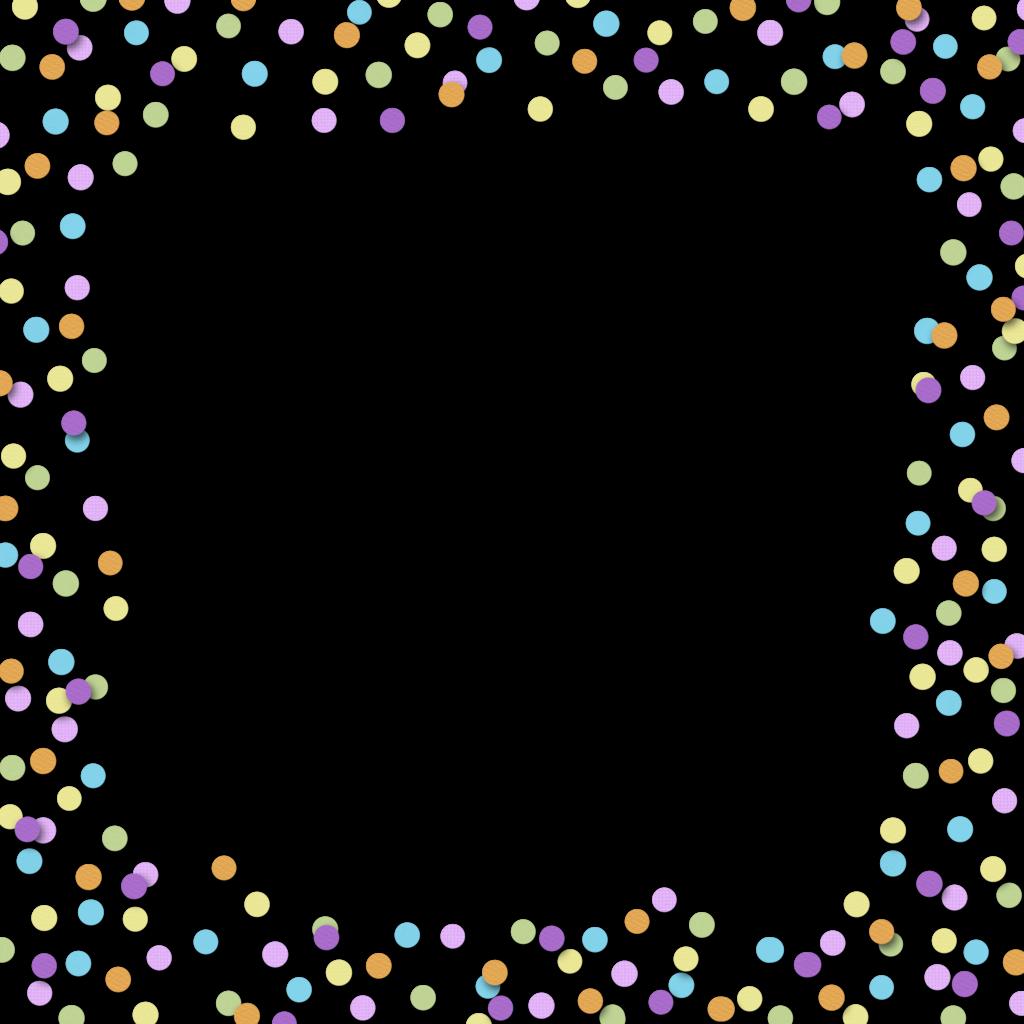 Frame clipart confetti Confetti Border and and Art