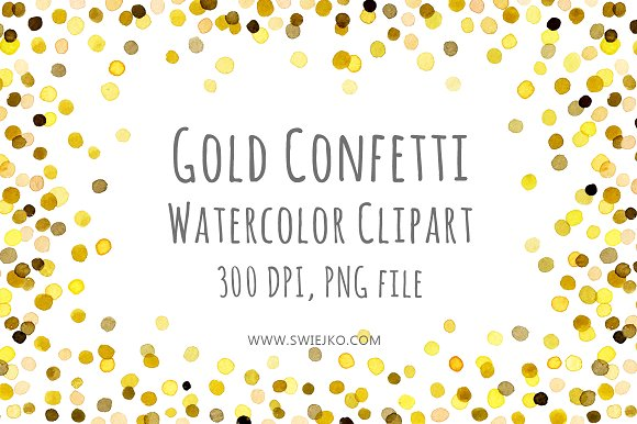 Frame clipart confetti Frame Frame Watercolor on Market